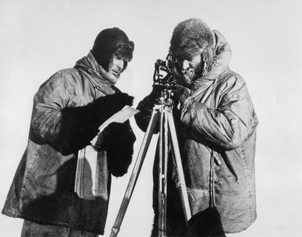 Admiral Richard Byrd, American explorer, at the South Pole, c 1920s.