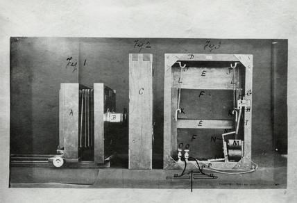 Muybridge's camera and shutter, c 1881.