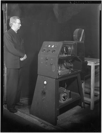 John Logie Baird, Scottish television pioneer, c 1942.