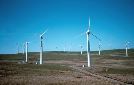 Wind farm, Wales, 1997.