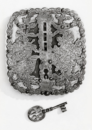 Steel lock, 18th century.