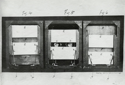 Muybridge customised electro-shutters, c 1880.