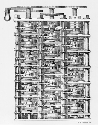 Charles Babbage's Difference Engine No1, c 1830s.