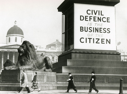 National Service recruitment campaign poster, Trafalgar Square, 30 March 1930.