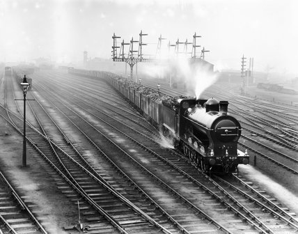 Steam locomotive with coal truck, 11 Decemb