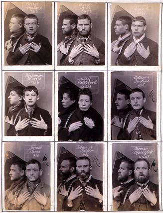 Photographs of prisoners, Wormwood Scrubs, London, c 1880.