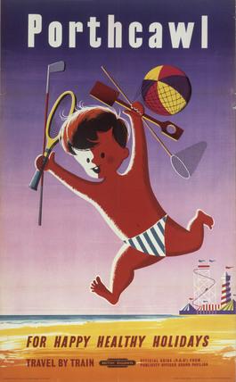 'Porthcawl', BR poster, 1956.