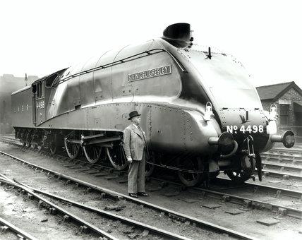 Sir H Nigel Gresley, railway engineer, March 1938.