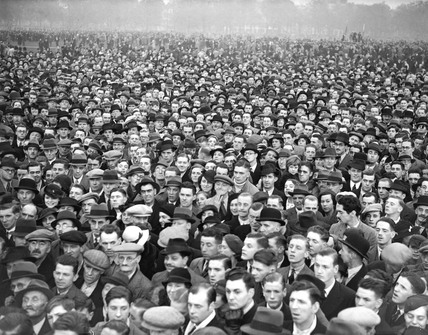 Jarrow March, crowds in Hyde Park, London,