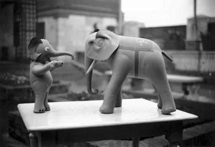 Mother and baby toy elephants, Selfridges