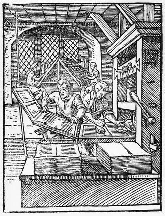 Printing, c 1574.