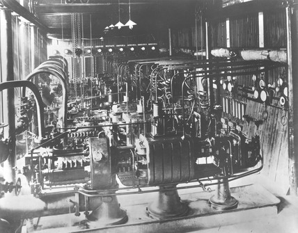 75 KW Parsons turbines at Forth Banks power station, 1892.