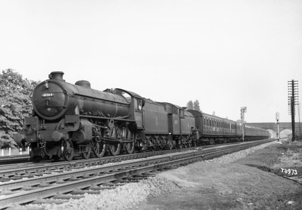 London & North Eastern Railway B1 Class 4-6-0 steam locomotive, 1956.