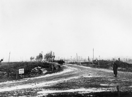 Shrapnel corner, Western front, France, October 1917.