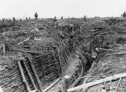 Captured German trenches near Messines, June 1917.