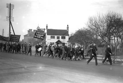 Hunger march in Lancashire, 23 February 193