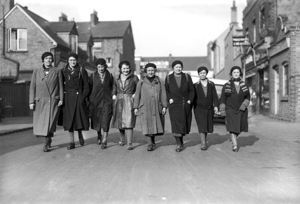Women hunger marches, 23 February 1934. Hun