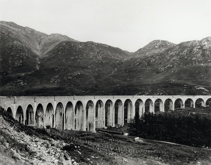 Glenfinnan Viaduct, Western Scotland, c 1910.
