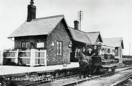 Dandy Cart No 1 at North British Railways' station, Port Carlisle, c 1910.