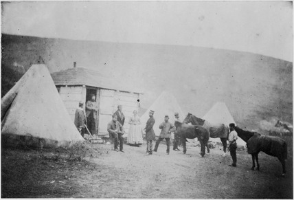 Captain Webb's hut, January 1856.