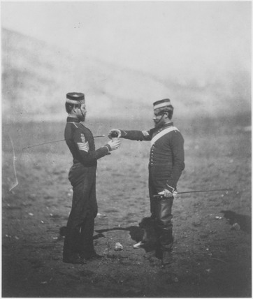 Two sergeants, 4th Light Dragoons, March 1856.