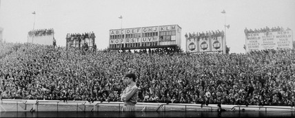 Capacity crowd at Stamford Bridge, London,