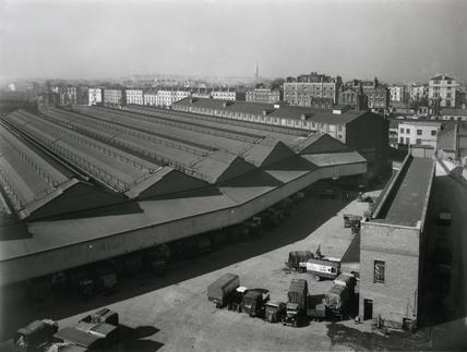 Paddington Station goods depot, London, March 1938.