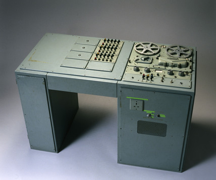 Language laboratory console, c 1960s.