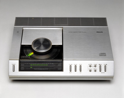 Early compact disc player, 1983.