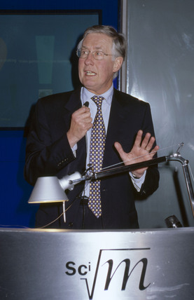 Michael Meacher at the Science Museum, London, 2002.