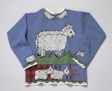 Jumper produced from the wool of Dolly the sheep, 1998.