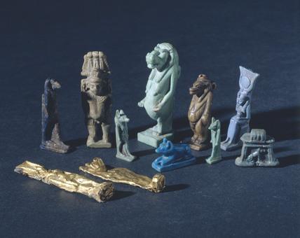 Amulets, Egyptian, c 4000 BC-30 AD.