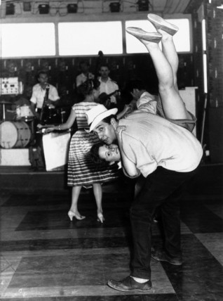 Young couple dancing at Butlin's Holiday Ca