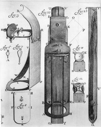 Leeuwenhoek's aquatic microscope, c 1722.