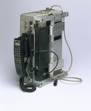 Speech synthesiser and mobile phone, 1999.
