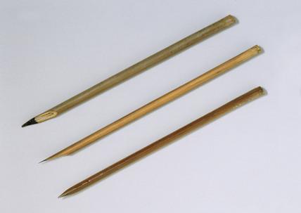 Three reed pens.