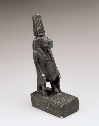 Bronze figure of Taweret as a pregnant hippopotamus, 1500BC-501BC.