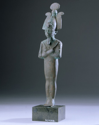 Bronze figurine of Osiris, Egyptian, 1000 BC-400 BC.