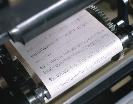 Detail of Babbage printer for Babbage's Difference Engine No 2, 2002.