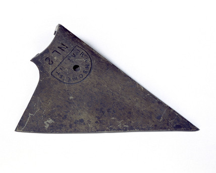 Ransome patent cast iron ploughshare, early 19th century.
