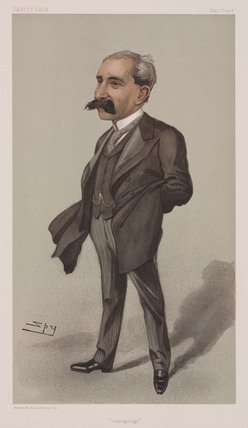 Sir Felix Semon, German physician, 1902.