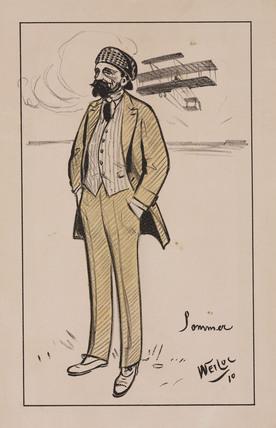 Sommer, airman, 1910.