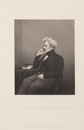 Sir John Herschel, English astronomer and scientist, c 1860.