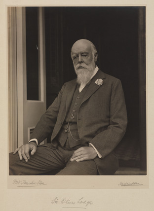 Sir Oliver Lodge, English physicist, c 1930.