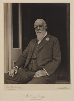 Sir Oliver Lodge, English physicist, c 1930.