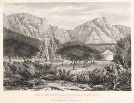 'Site of the Twenty Feet Reflector at Fieldhausen', 1834.