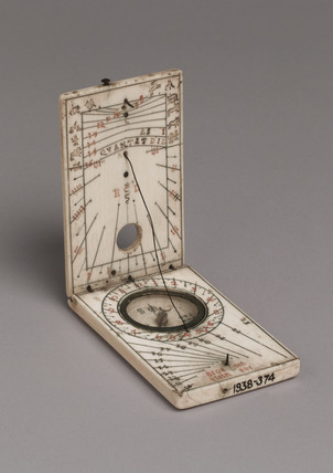 Tablet sundial, late 16th century.
