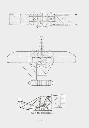 General arrangement of the Wright Flyer III, 1905.