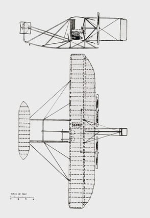 General arrangement of the standard 1907-1909 type machine, 1909.
