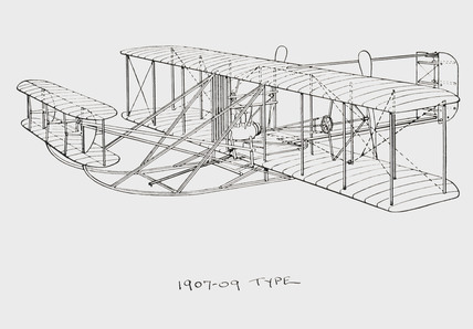 Wright aircraft of 1907-1909 type, 1909.
